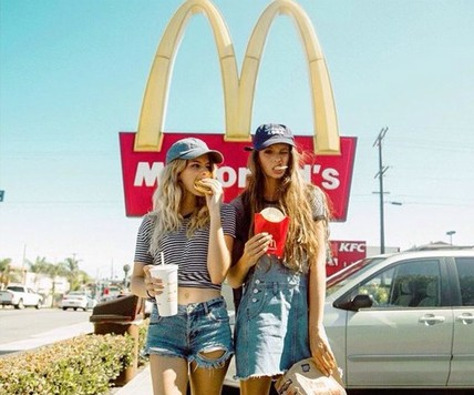American Girls eating McDonalds