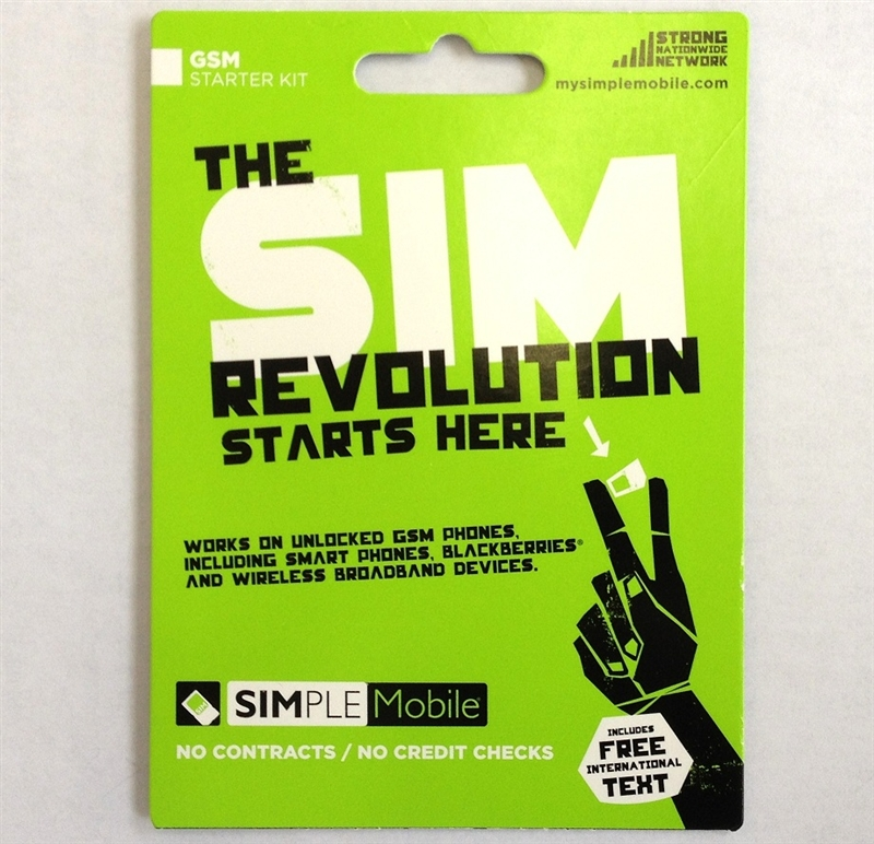 Simple Mobile Sim Card (with first month data plan)